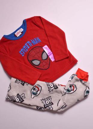 Теплая флисово-плюшевая пижамка, теплюща піжама для хлопчика primark 92