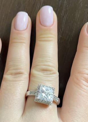 Кольцо серебро колечко 19,5 размер