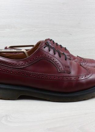 Мужские кожаные туфли броги dr. martens оригинал, размер 45