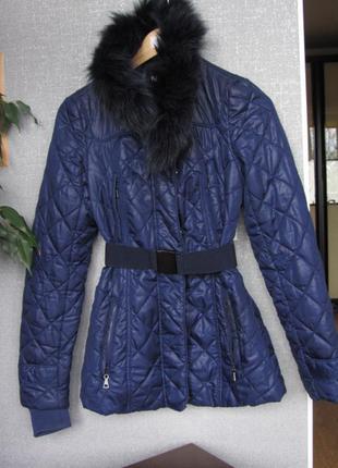 Куртка с натуральным мехом демисезонная