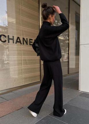Женский костюм, костюм с брюками, костюм двойка, спортивный костюм, чёрный костюм
