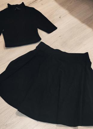 Базовая юбка-солнце на девушку