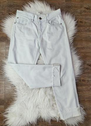 Мом джинсы высокая посадка слоуч штаны фирменные трендовые