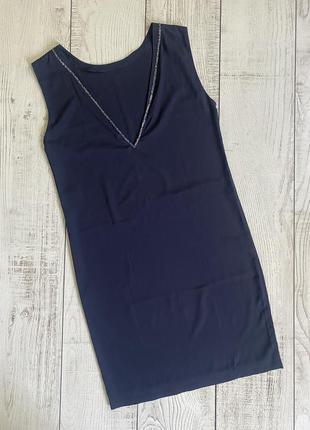 Шелковое платье с v-образным вырезом maje pp s-m