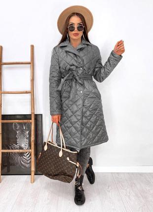 Женское пальто куртка плащевка лаке