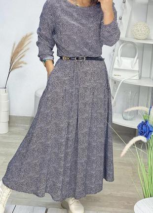 Платье из натуральной ткани👌размер 14-l .длина-131 см.