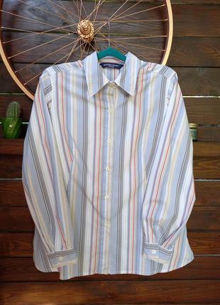 Рубашка в полоску marina sport в идеальном состоянии