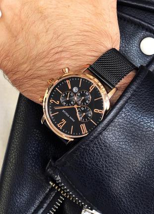 Чёрные мужские наручные часы