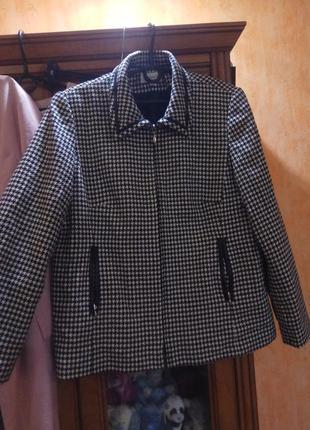 Куртка гусиная лапка пальто полупальто пиджак жакет