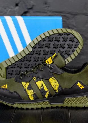 Мужские кроссовки из натуральной кожи adidas xz(40-45р)