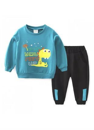 Детский костюм для мальчика с динозавром 2021