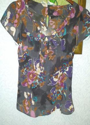 Очаровательная  блуза next с акварельным принтом