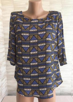Футболка блузка в орнамент с дефектом sugarhill