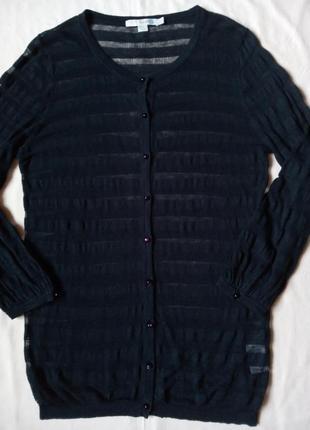 30%лен 70%вискоза темно синяя блуза кофточка джемпер boden