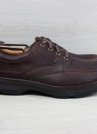 Мужские кожаные туфли clarks active air, размер 46