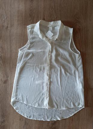 Блузка, шифонова, майка, сорочка, жилетка, прозора, без рукавів