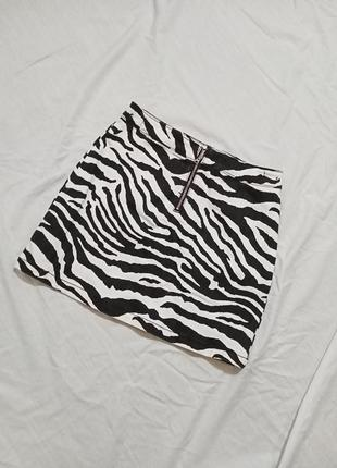 Юбка в принт зебра