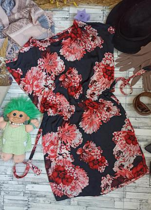 Шикарное цветочное лёгкое воздушное платье в цветы
