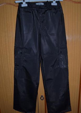 """Крутые демисезонные брюки """" под кожу """" chill out для мальчика 10 - 12 лет"""