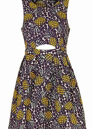 Летнее платье с ананасами, р.м