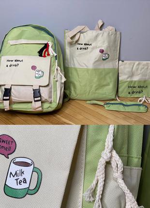 Рюкзак + шопер + сумка через плече + пенал як з pinterest