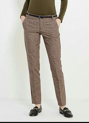 Классические брюки на стрелочку oodji/штаны в клетку 36/клетчатые теплые