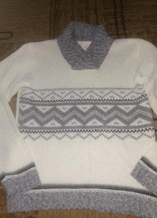 Нарядный белый теплый свитерок 11-12 лет gloria jeans