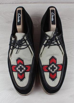 Мужские туфли с узором вышивкой asos, размер 43 (криперсы)