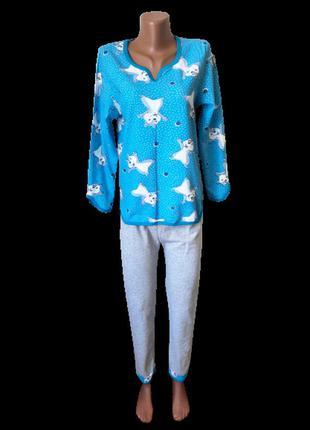 Пижама женская тёплая на байке р.44,46,48,50,52,54