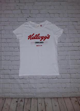 Женская белая футболка h&m