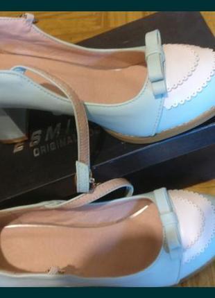 Шикарные новые бирюзово-голубые туфли