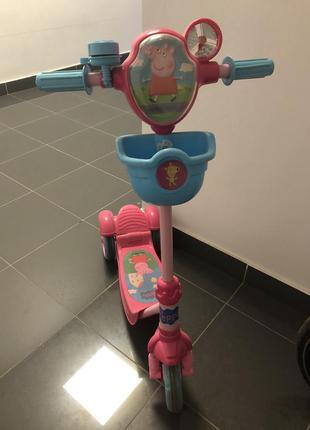 Детский для девочки самокат