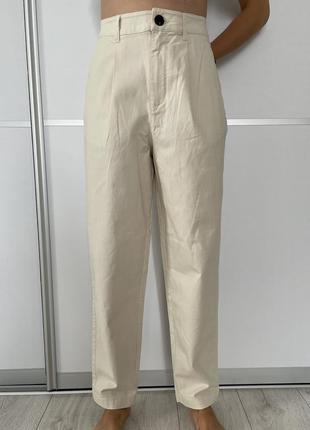 Брюки светлые женские mango, штани жіночі бежеві 36 розмір.