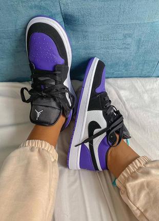 Кроссовки кеды nike jordan retro violet кросівки кеди