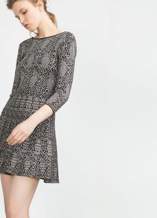 Платье с открытой спинкой и рукавом 3/4 zara pp l новое, распродажа остатков!