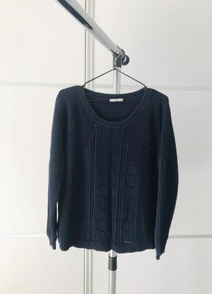 Тепла кофта, свитер, темно синий свитер, кофта тепла темно синий свитер джемпер