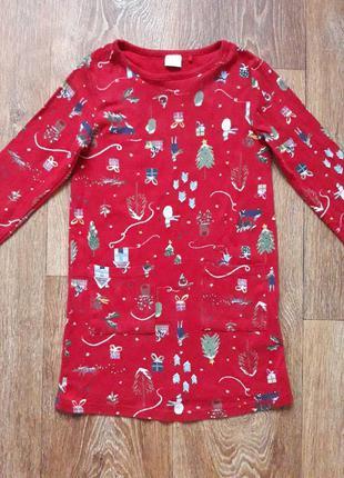 Платье кофта удлиненная туника нарядная новый год праздничная некст next летняя осенняя весенняя зимняя распродажа лот обмен коллекция детская шесть 6
