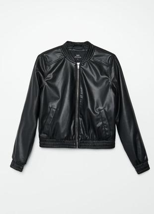 Куртка кожанка бомбер cropp