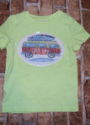 Стильная футболка мальчику перевертыш 5 лет palomino