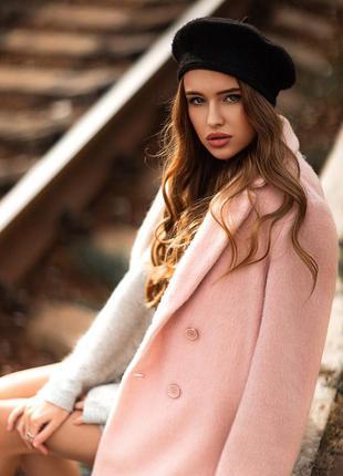 Пальто розовое шерстяное befree
