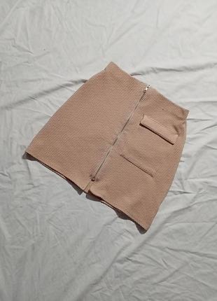 Юбка с молнией спереди и карманом