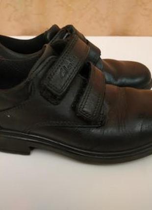 Удобные кожаные туфли clarks в спортивном стиле р.27 стелька 17.5