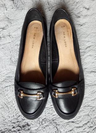 Шкіряні туфлі, лофери, балетки new look