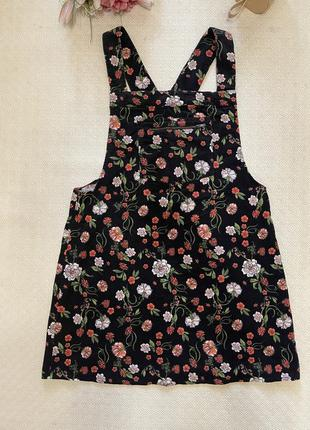 Платье вельветовый сарафан