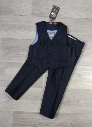 Комплект костюм брюки жилет cool club 98 104