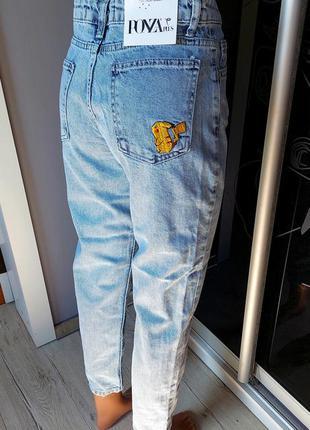 Джинсы мом, джинсы с высокой посадкой