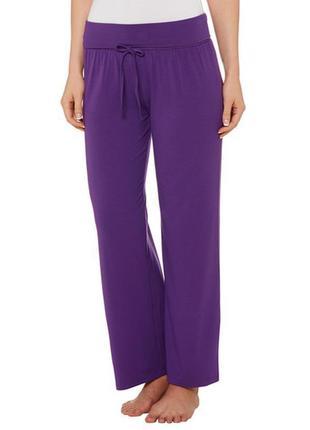 Новые фиолетовые бомбезные натуральные комфортные брюки xxl 50