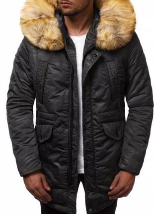 Мужская зимняя парка (куртка) камуфляж