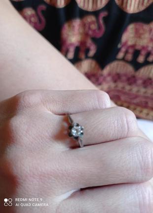 Красивое серебряное кольцо ссср р.16,5 873 проба