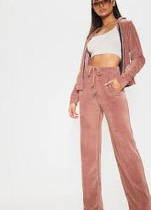 18 xxxl 56 широкие штаны палаццо с широкими штанинами велюр высокий рост rose